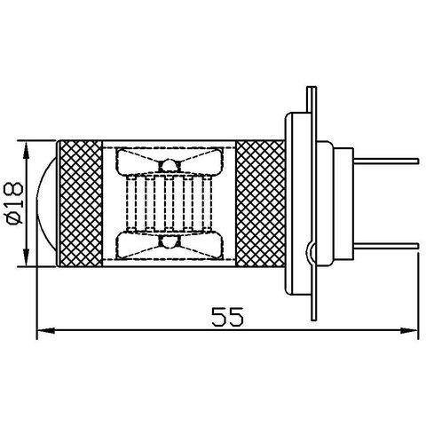 Противотуманная LED лампа UP-7G-H7WB-30W (белая, 12-24 В) Превью 1