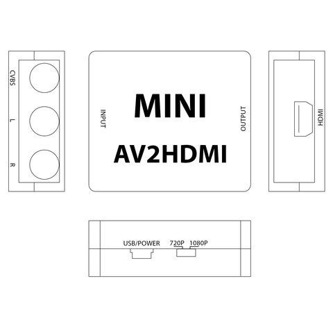 CVBS to HDMI Video Signal Converter Preview 4