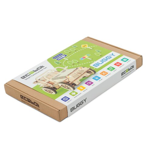 Деревянный конструктор EcoBot автомобиль Багги с Bluetooth управлением - /*Photo|product*/